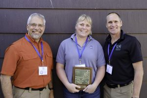 Program Manager Pat Collins, Jaime Edwards of the MN DNR, and Executive Director Kris Larson