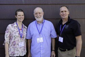Program Manager Kristina Geiger, Tom Hoffmann, and Executive Director Kris Larson