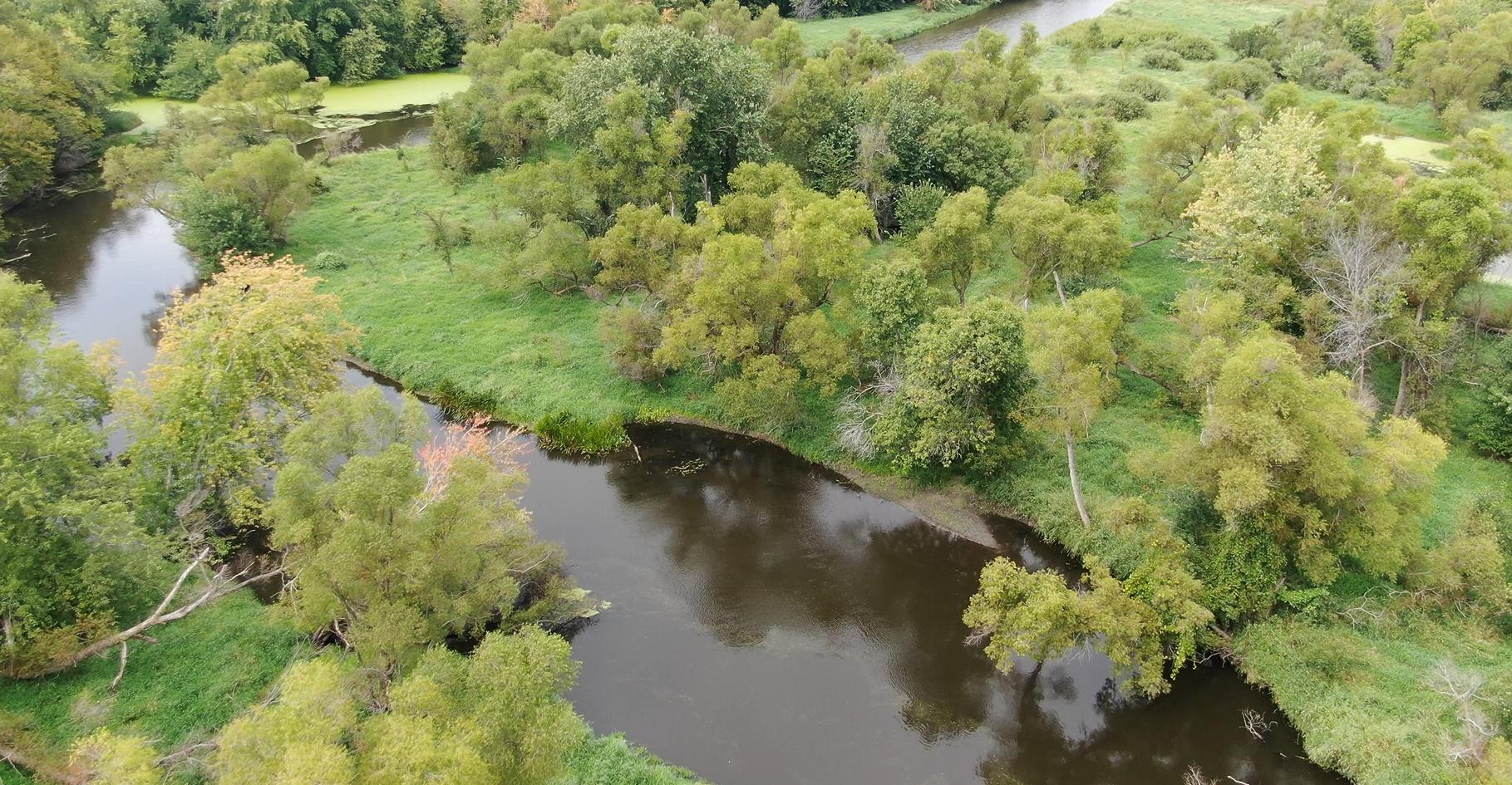 Sauk River drone