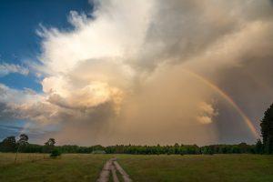 Camp Olson and rainbow