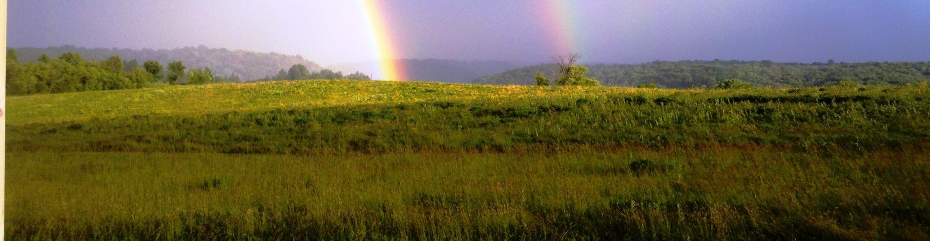 landscape with two rainbows