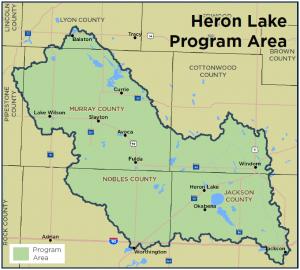 Heron Lake Program Area map