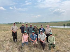 Minnesota Land Trust and US Fish and Wildlife staff at a working lands easement